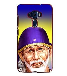 Fiobs Designer Back Case Cover for Asus Zenfone 3 ZE552KL (5 Inches) (Saibaba Sai Shirdi Malik)