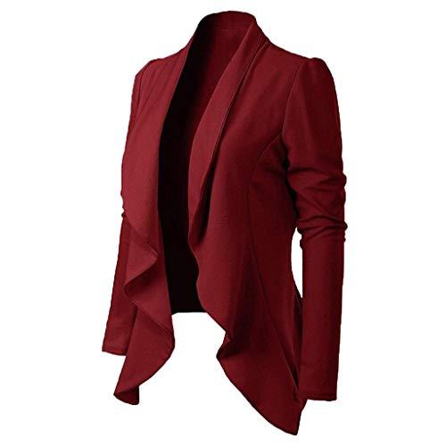 Haughtily Frauen Eleganter Stil Blazer Mantel Umlegekragen Langarm Slim Anzug Jacke Business Office Casual Outwear -