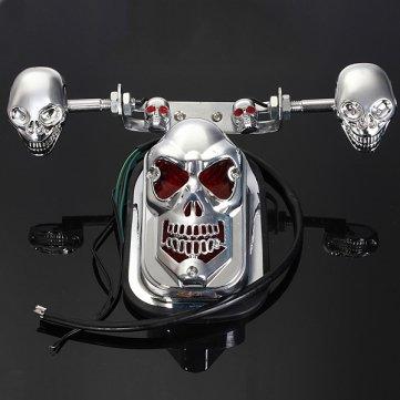 Souked Schädel Motorrad ATV hinten Rücklicht -Blinker- Bremsplatte