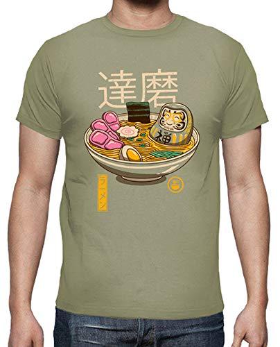 Latostadora - Camiseta Zen Ramen Camisa Hombre Caqui