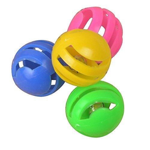 4Stück Tiere Katze Pet Outdoor Kunststoff Spielzeug spielen Ball