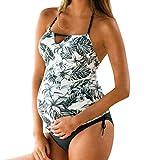 Topgrowth Costumi Premaman Costumi da Bagno Donna Costumi Interi Tankini Swimwear Stampa A Righe Bagnarsi Push-Up Mare Spiaggia Costume Intero Donna Beachwear