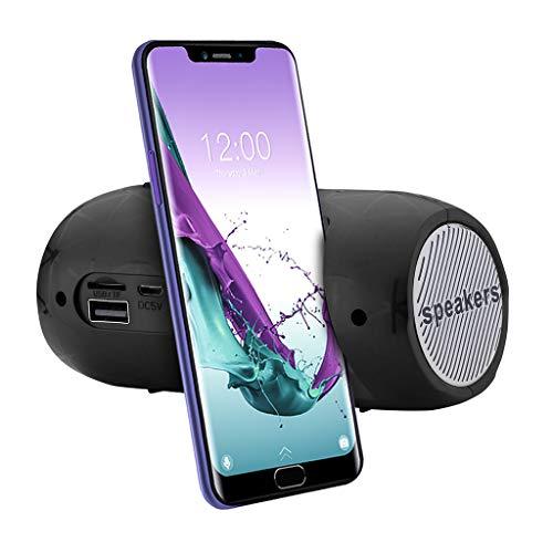 SO-buts BJ-7 Bluetooth Lautsprecher, Tragbare Drahtlose Stereoanlage Lautsprecher, Unterstützungs TF Karte, USB,Mit FM-Funktion, für Smartphone,Tablet PC (Schwarz)