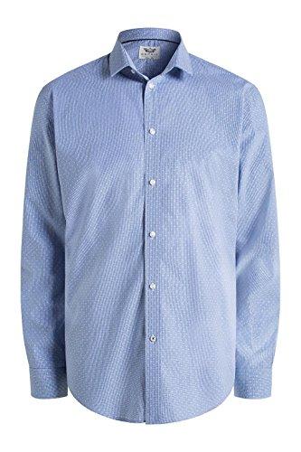 Esprit Vichy Check Ls - Chemise Business - Homme Bleu - Bleu