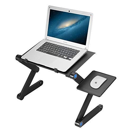 Mbuynow Mesa para Ordenador Portatil, Soporte Portátil Aluminio Plegable del Ordenador portátil para PC Portátil Laptop de Cama, Sofá, Escritorio con Bandeja para Mouse