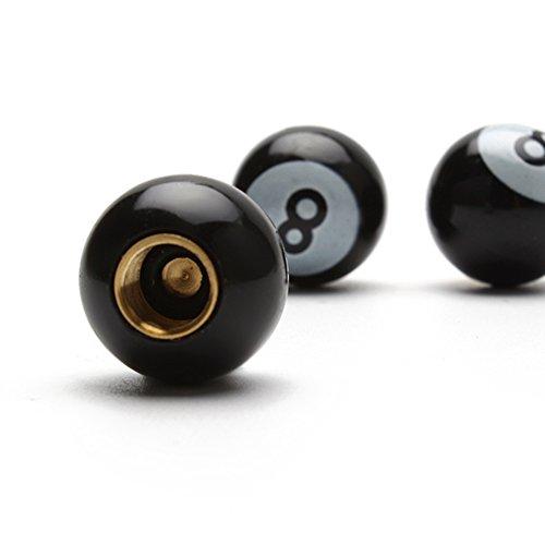 iTimo - 4 tapones universales para válvula de neumático de coche para llantas de motocicleta, color negro