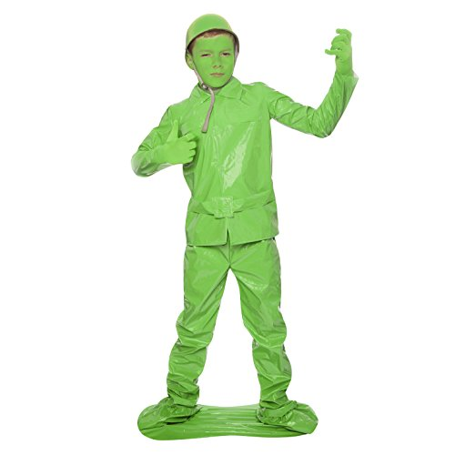 Soldato Salvate il soldato Morph Fancy Dress Morphsuits bambini (L, 10-12 anni, Verde)