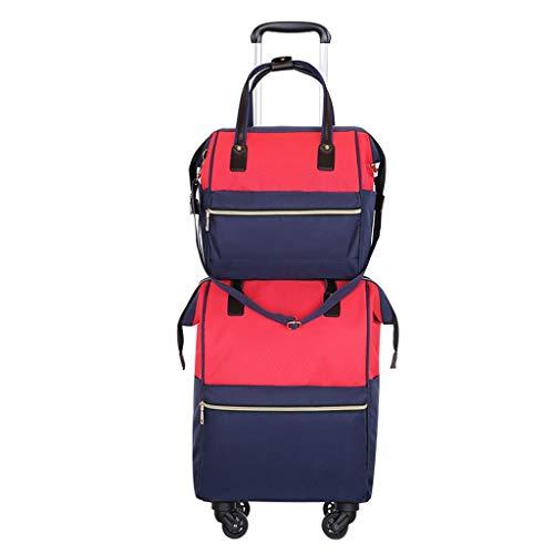 Chooseator Reisetasche, Gepäck, Boarding, Silent Caster, 360 Grad freie Lenkung, kratzfestes Oxford-Tuch, Reisen von Männern und Frauen, Trolley-Tasche, Gepäcktrolley-Gepäckrucksack (Farbe : A)