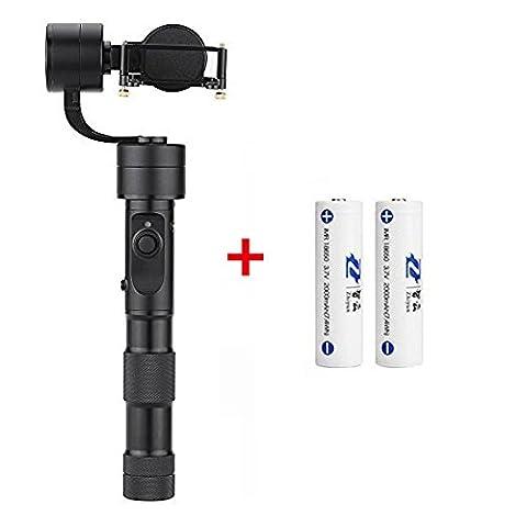 Zhiyun Eovolution 3-Achsen-Handheld Gimbal Action-Kamera Stabilisator spritzwassergeschützt für GoPro hero4 Hero3+ Hero 3 SJcam sj4000/5000 Für Yi Cam 4 K Action Kameras und 2 Stück extra (Crane Cams Cam)