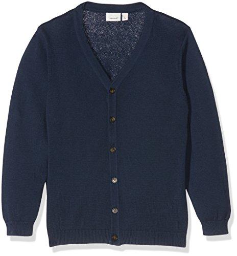 NAME IT Mädchen Strickjacke Nkmvalant LS Knit Card Noos, Blau (Dress Blues), 164 (Herstellergröße: 158/164)