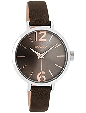 Oozoo Damen-Armbanduhr Dunkelbraun 36 mm C8703