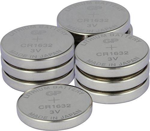 3V Lithium Knopfzellen (CR 1632 3 Volt) 10-er Pack Knopfbatterien (einzeln entnehmbar) ()