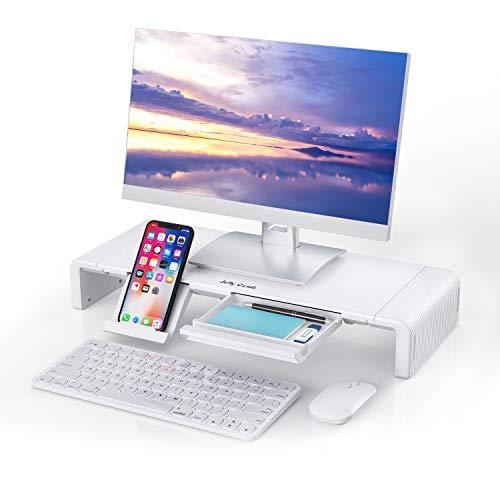 Jelly Comb Faltbarer Monitorständer, Bildschirmständer Laptopständer für Computer, Laptop, Bildschirm, Drucker, TV(Weiß)
