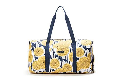 Jadyn B Weekender Bag - 56 cm./ 52L - Sac polochon avec Poche à Chaussure (Yellow Flowers)