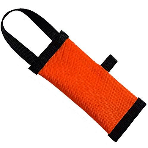 Dog24 Hunde-Futterdummy / Trainingsdummy / Feuerwehrschlauch / Apportier-Tasche für Leckerlies und Hundesnacks, ideal fürs Apportier-Training / Futterbeutel / Leckerlie-Beutel / Apportier-Spielzeug / schwimmfähig / Preydummy / Snack Dummy (L (25cm))