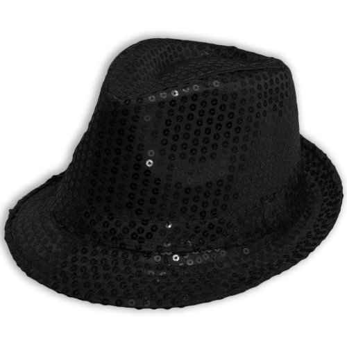 Sofias Closet Pailletten Fancy Kleid Trilby Hut Fedora -