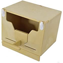 En Caja Nido para pájaros exóticos para interiores y exteriores x jaula o voliera