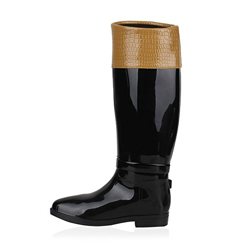 Botas De Borracha Botas Botas Femininas Acolchoado Sapatos Chuva Tinta Marrom Luz À Prova De Água