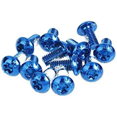 MOWA MTB-Kit di bulloni rotore freno a disco, 12 pezzi, 25 g, colore: blu