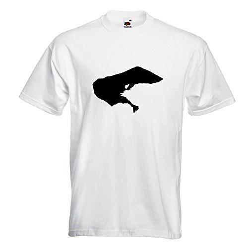 KIWISTAR - Borkum - Deutschland - Insel T-Shirt in 15 verschiedenen Farben - Herren Funshirt bedruckt Design Sprüche Spruch Motive Oberteil Baumwolle Print Größe S M L XL XXL Weiß