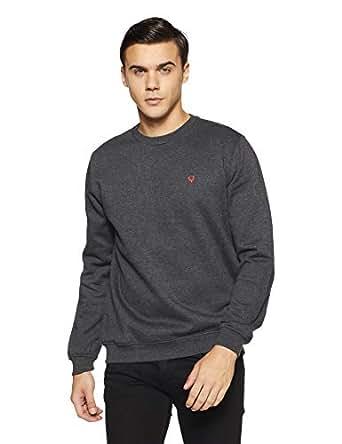 Allen Solly Men's Sweatshirt (ASSTORGPW14019S_Anthra Melange VMBK30)