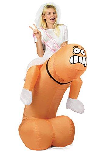 Escapade-Fancy-Dress aufblasbares Ride on Kostüm Elefant T-Rex Dinosaurier Pimmel Lümmel Junggesellenabschied Junggesellinnenabschied (Inflatable Ride on Willy)