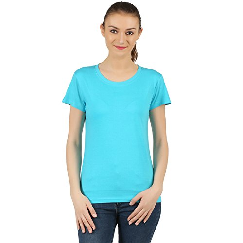 T-Shirt.ind.in Casual FINE Womens Dark Turquies Round Neck T-Shirt  available at amazon for Rs.170