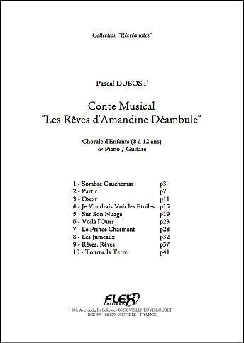 Descargar Libro PARTITURA CLASICA - Conte Les Rêves d'Amandine Déambule - P. DUBOST - Children's Choir and Piano or Guitar de Unknown