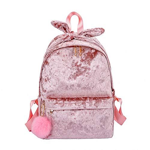 ZEELIY Rucksack Für Schule, Damentasche Schultertasche Plüsch Literarische Haarball StudententascheCanvas Rucksack Schulrucksack Wanderrucksack Reisetasche