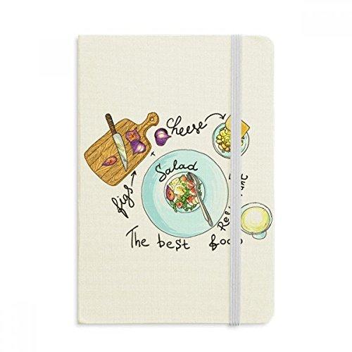 DIYthinker Salat Käse Figuren Frankreich Restaurant Notebook Stoff Hard Cover Klassisches Journal Tagebuch A5 A5 (144 X 210mm) Mehrfarbig (Journal Restaurant)