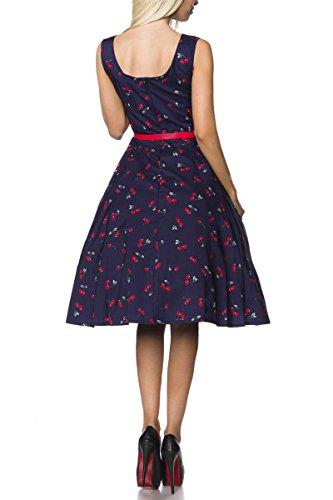 Angies Glamour Fashion - Robe - Femme bleu/rouge