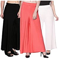 SHMAYRA Palazzo for Women Free Size Combo Pack of 3