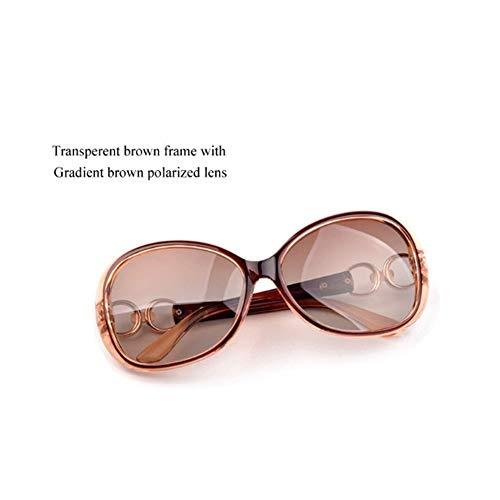 Mode Transparenten Rahmen Polarisierte Sonnenbrille Frauen Markendesigner Fahren Sonnenbrille (Lenses Color : Q3)
