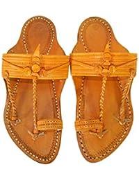 M&N - Kolhapuri Leather Chappal/Sandal/Footwear for Men's - Ethnic Handcrafted Kurundwadi Style