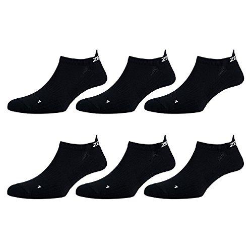 Zen Core schwarze Sneaker Füßlinge - Sportsocken für Herren anatomisch angepasst 3er, 6er, 12er Pack, Größe 40-43 und 44-47 für Fitness und Freizeit - Füßlinge-set