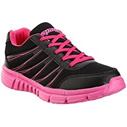 Sparx Women's Black and Pink Running Shoes - 8 UK/India (41 EU)(SM-080)