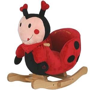 Plüsch Baby-Schaukel Käfer mit Metallkern, gute Polsterung, weiches Kuschelfell