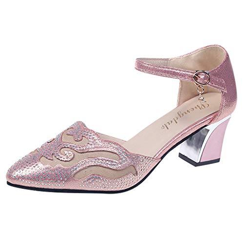 hahashop2 Sandalen Damen Sommer Schuhe, Frauen Casual Sandalen, luftig und dick mit Sandalen und Hausschuhen