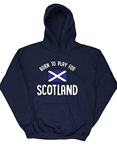 HippoWarehouse Born to Play for Scotland kids unisex Hoodie hooded