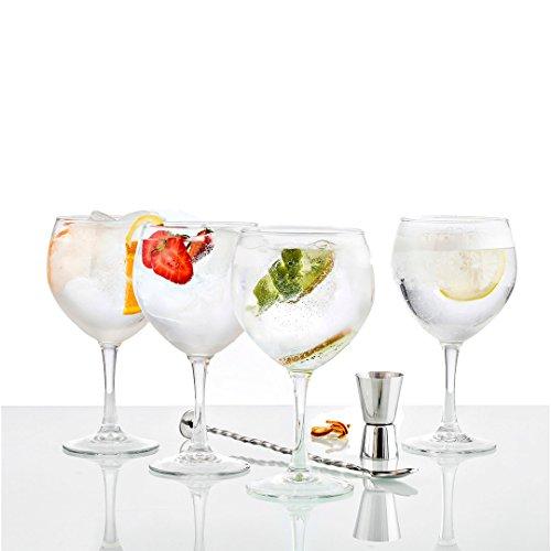 Vintia Gabanna - Set de 6 copas de gin tónico, 62 cl + 1 cuchara + 1