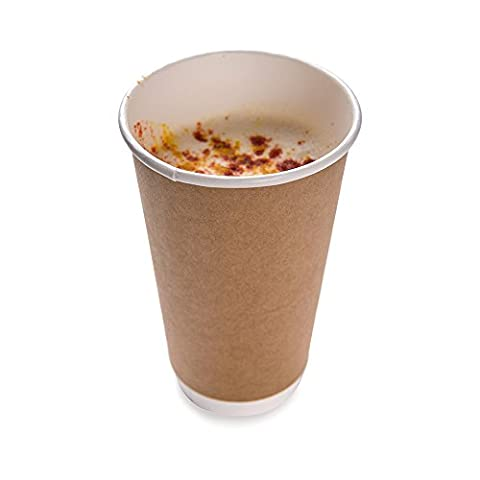16 ounces Kraft Disposable Double Wall Coffee and Tea Cup 500 count box