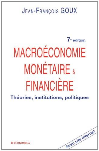 Macroconomie montaire et financire
