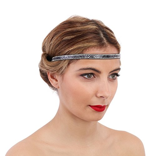 La Modeuse - Headband orné de strass et imprimé python