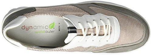 Waldläufer Haruka, Chaussures à Lacets Femme Mehrfarbig (grau stein skin weis)