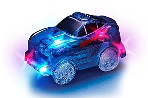 MAGIC TRACKS La Voiture bleue pour un circuit encore plus incroyablement amusant, modulable et brillant dans le noir - Vu à la Télé