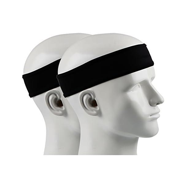 IPOW 2 pz Headband Fasce da Corsa Fascia Capelli Uomo Fascia antisudore Testa Antisscivolo e e Antisudore Traspirante… 1 spesavip