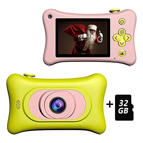 Goushy 1080P HD Macchina Fotografica per Bambini, Bambina Fotocamera Digitale Portatile Selfie Videocamera per Bambine 2 Pollici LCD Perfetto per il regalo Natale Regalo compleanno