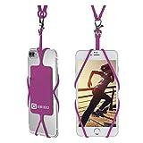 Courroie de lanière de téléphone portable, collier universel de support de couverture de caisse de Smartphone de bête de vitesse