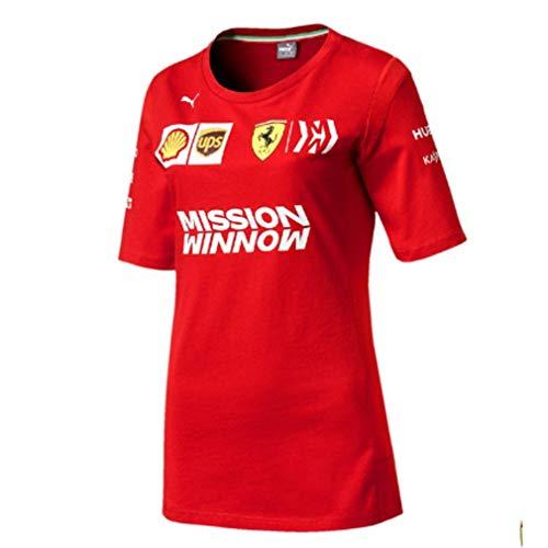Scuderia Ferrari 2019 F1TM Camiseta del Equipo Mujer (M)