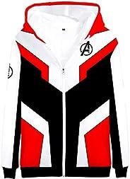 EUDOLAH Men's 3D Print Long Sleeve Hoodie Avengers Endgame MCU Series Film Zipper Jacket Superhero Fans Cospla